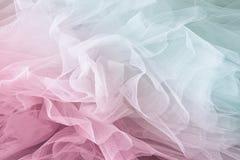 Εκλεκτής ποιότητας υπόβαθρο σύστασης σιφόν του Tulle γάμος σκαλοπατιών πορτρέτου φορεμάτων έννοιας νυφών ο τρύγος φιλτράρισε και  Στοκ φωτογραφία με δικαίωμα ελεύθερης χρήσης
