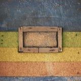 Εκλεκτής ποιότητας υπόβαθρο τοίχων χρώματος με τα πλαίσια Στοκ φωτογραφία με δικαίωμα ελεύθερης χρήσης