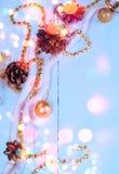 Εκλεκτής ποιότητας υπόβαθρο Χριστουγέννων με τα σπινθηρίσματα Στοκ φωτογραφία με δικαίωμα ελεύθερης χρήσης