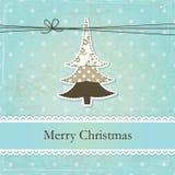 Εκλεκτής ποιότητας υπόβαθρο Χριστουγέννων Στοκ Εικόνες