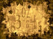 Εκλεκτής ποιότητας υπόβαθρο χρονικών αριθμών φύλλων φθινοπώρου Στοκ εικόνες με δικαίωμα ελεύθερης χρήσης