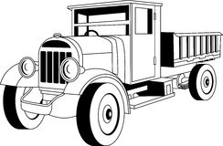 Εκλεκτής ποιότητας φορτηγό Στοκ Εικόνες