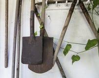 Εκλεκτής ποιότητας φτυάρια και εγκαταστάσεις Στοκ Φωτογραφίες