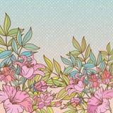 Εκλεκτής ποιότητας φωτεινό πλαίσιο λουλουδιών Στοκ εικόνα με δικαίωμα ελεύθερης χρήσης