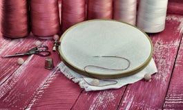 Εκλεκτής ποιότητας φωτογραφίες των στοιχείων για το ράψιμο Στοκ Φωτογραφία