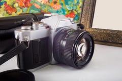 Εκλεκτής ποιότητας φωτογραφική μηχανή SLR Στοκ εικόνα με δικαίωμα ελεύθερης χρήσης