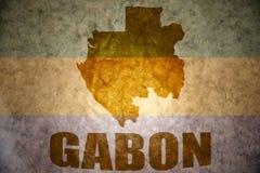 Εκλεκτής ποιότητας χάρτης της Γκαμπόν Στοκ Εικόνες