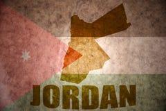 Εκλεκτής ποιότητας χάρτης της Ιορδανίας Στοκ Εικόνες