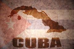 Εκλεκτής ποιότητας χάρτης της Κούβας απεικόνιση αποθεμάτων