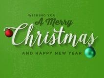 Εκλεκτής ποιότητας Χαρούμενα Χριστούγεννα Στοκ φωτογραφίες με δικαίωμα ελεύθερης χρήσης