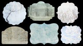 Εκλεκτής ποιότητας χειμερινές ετικέτες Στοκ Εικόνες