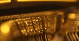 Εκλεκτής ποιότητας χειρωνακτικός στενός επάνω γραφομηχανών απόθεμα βίντεο