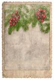 Εκλεκτής ποιότητας χρησιμοποιημένο εικόνες έγγραφο φωτογραφιών πλαισίων καρτών Χριστουγέννων ύφους Στοκ φωτογραφία με δικαίωμα ελεύθερης χρήσης
