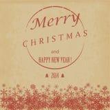 Εκλεκτής ποιότητας Χριστούγεννα και κάρτα καλής χρονιάς. Διανυσματική απεικόνιση Στοκ Εικόνα