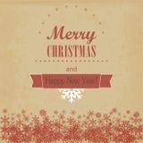 Εκλεκτής ποιότητας Χριστούγεννα και κάρτα καλής χρονιάς. Διανυσματική απεικόνιση Στοκ εικόνα με δικαίωμα ελεύθερης χρήσης