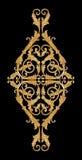 Εκλεκτής ποιότητας χρυσά floral σχέδια διακοσμήσεων Στοκ εικόνες με δικαίωμα ελεύθερης χρήσης
