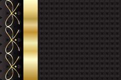 Εκλεκτής ποιότητας χρυσό σχέδιο πλαισίων Στοκ Εικόνα