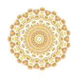 Εκλεκτής ποιότητας χρυσό σχέδιο Στοκ Φωτογραφία