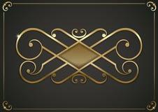 Εκλεκτής ποιότητας χρυσό σύντομο χρονογράφημα Στοκ εικόνες με δικαίωμα ελεύθερης χρήσης