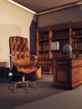 Εκλεκτής ποιότητας δωμάτιο βιβλιοθηκών ελεύθερη απεικόνιση δικαιώματος