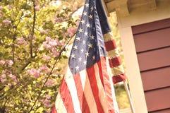 Εκλεκτής ποιότητας ύφος αμερικανικών σημαιών Στοκ φωτογραφία με δικαίωμα ελεύθερης χρήσης