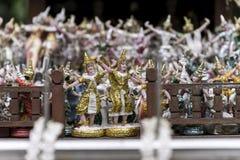 Εκλεκτής ποιότητας ύφος εικόνων - ειδώλιο παραδοσιακού ταϊλανδικού εθιμοτυπικού Στοκ Εικόνα
