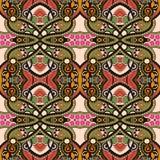 Εκλεκτής ποιότητας floral άνευ ραφής σχέδιο γεωμετρίας Στοκ Φωτογραφίες