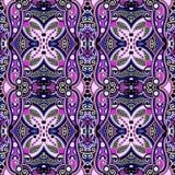 Εκλεκτής ποιότητας floral άνευ ραφής σχέδιο γεωμετρίας Στοκ Φωτογραφία