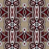 Εκλεκτής ποιότητας floral άνευ ραφής σχέδιο γεωμετρίας Στοκ εικόνες με δικαίωμα ελεύθερης χρήσης