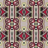 Εκλεκτής ποιότητας floral άνευ ραφής σχέδιο γεωμετρίας Στοκ φωτογραφία με δικαίωμα ελεύθερης χρήσης