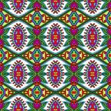 Εκλεκτής ποιότητας floral άνευ ραφής σχέδιο γεωμετρίας Στοκ εικόνα με δικαίωμα ελεύθερης χρήσης