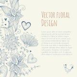 Εκλεκτής ποιότητας floral έμβλημα πρότυπο άνευ ραφής Στοκ Εικόνα