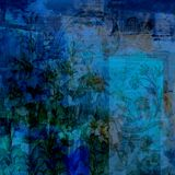 Εκλεκτής ποιότητας Floral ανασκόπηση λευκώματος αποκομμάτων Grunge Στοκ Εικόνα