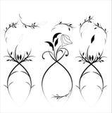 Εκλεκτής ποιότητας floral διάνυσμα στοιχείων σχεδίου απεικόνιση αποθεμάτων