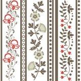 Εκλεκτής ποιότητας floral διακόσμηση Στοκ εικόνες με δικαίωμα ελεύθερης χρήσης