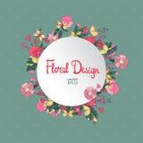 Εκλεκτής ποιότητας floral διανυσματικό πλαίσιο κύκλων Στοκ φωτογραφία με δικαίωμα ελεύθερης χρήσης