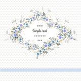 Εκλεκτής ποιότητας floral κάρτα Στοκ Φωτογραφίες
