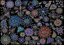Εκλεκτής ποιότητας floral κίνητρα Στοκ Εικόνα