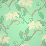 Εκλεκτής ποιότητας floral πρότυπο Ελεύθερη απεικόνιση δικαιώματος