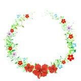 Εκλεκτής ποιότητας Floral πλαίσιο - διανυσματική απεικόνιση Στοκ εικόνες με δικαίωμα ελεύθερης χρήσης