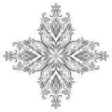 Εκλεκτής ποιότητας floral στοιχείο σχεδίου με τους στροβίλους Στοκ φωτογραφία με δικαίωμα ελεύθερης χρήσης