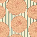 Εκλεκτής ποιότητας floral σχέδιο άμμου με το λωρίδα Στοκ Φωτογραφία