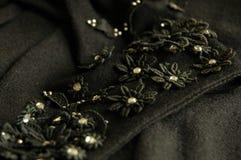 Εκλεκτής ποιότητας floral applique με τα κέντρα rhinetone Στοκ Εικόνες