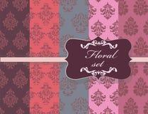 Εκλεκτής ποιότητας Floral damask διακοσμήσεων συλλογή σχεδίων απεικόνιση αποθεμάτων