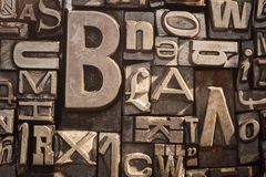 Εκλεκτής ποιότητας letterpress υπόβαθρο τύπων Στοκ Εικόνες