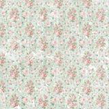 Εκλεκτής ποιότητας shabby floral υπόβαθρο εγγράφου Στοκ Φωτογραφία