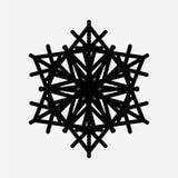 Εκλεκτής ποιότητας snowflake μαύρο εικονίδιο Στοκ εικόνα με δικαίωμα ελεύθερης χρήσης