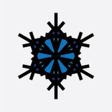 Εκλεκτής ποιότητας snowflake μαύρο εικονίδιο ελεύθερη απεικόνιση δικαιώματος