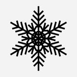 Εκλεκτής ποιότητας snowflake μαύρο εικονίδιο Στοκ Εικόνες
