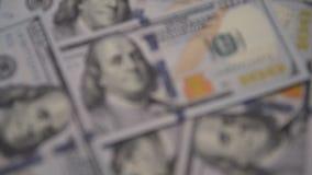 Εκλεκτική εστίαση νέων 100 δολαρίων φιλμ μικρού μήκους